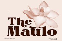The Maulo by  in Fonts