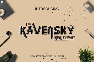Kavensky Brush Font