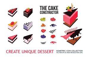 Cake constructor Create cute dessert
