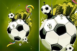 Abstract Football Illustration #1