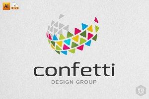 Confetti Design Logo Template