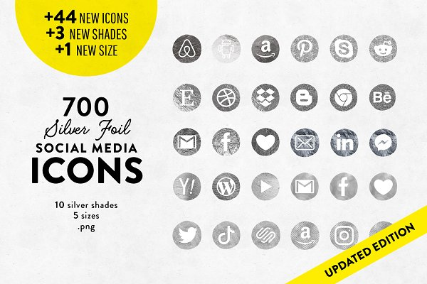 Rose Gold Social Media Icons Pre Designed Photoshop Graphics Creative Market