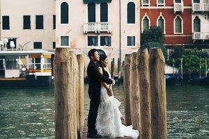 Couple on the bridge