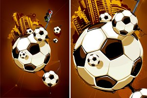 Abstract Football Illustration #2