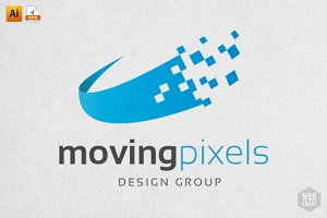 Moving Pixels Design Logo Template