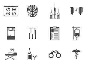 Psychiatry and narcology vector icon
