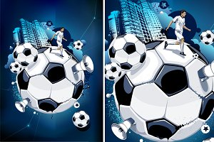 Abstract Football Illustration #4