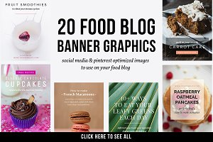 20 Food Blog Banner Graphics PSD