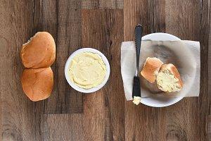 Bread Plate Butter Crock Rolls