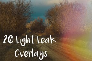 20 Light Leak Overlays