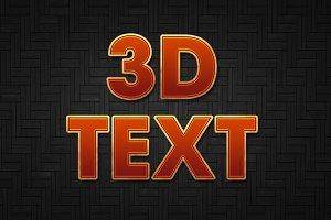 3D Retro effect
