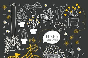 Gardening and Deco Hand Drawn III