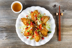 Asian Style Chicken Wings with Tea