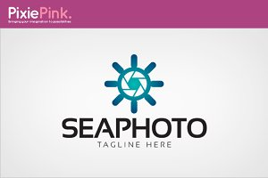 Sea Photo Logo Template