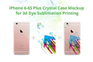 iPhone 6S Plus 3d Crystal Case Mock-