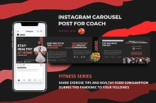 Instagram coach carousel - fitness