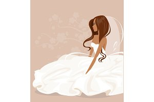 Collection brides. Vector