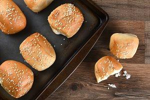 Sesame Seed Rolls Baking Sheet