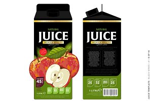 Template Package Design Apple Juice