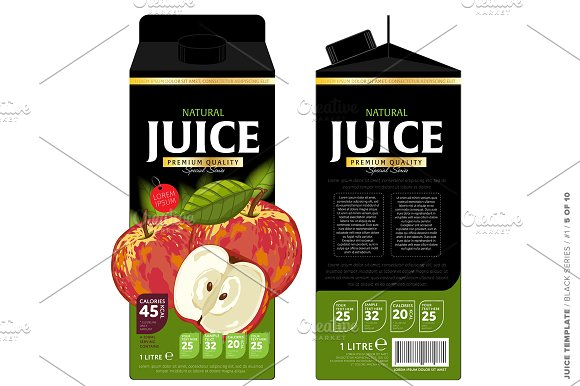 template package design apple juice graphics creative market