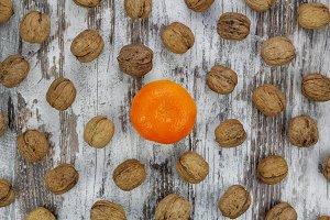 Walnuts and mandarin