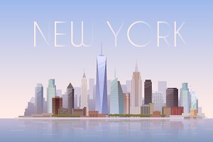 New York. Vector Illustration.
