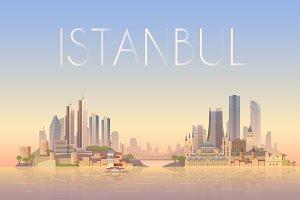 Istanbul. Vector Illustration.