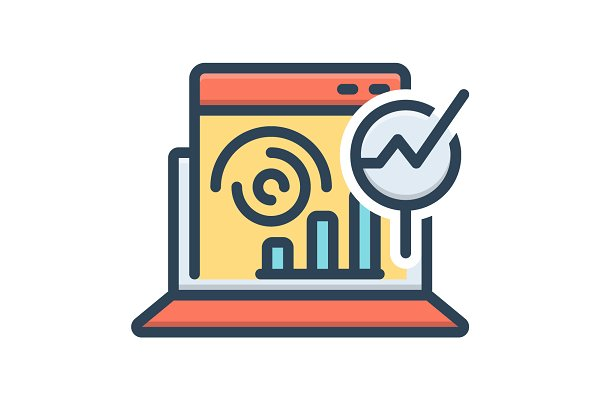 web analytics icon pre designed illustrator graphics creative market web analytics icon