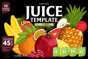 Bundle of Packaging Design Juice