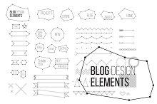 Blog design elements set