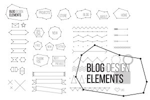 Blog design elements set