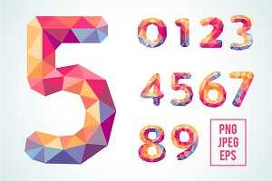 Bright Polygonal Crystal Numbers