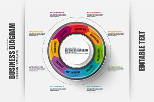 Business Circle Diagram Infographic