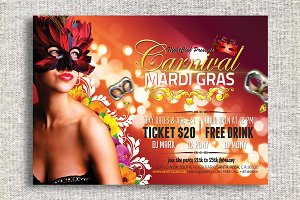 Carnival Mardi Gras Party Flyer