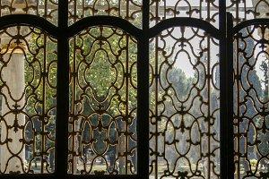Gilded window frame