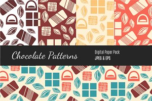 Seamless Pattern with Chocolate