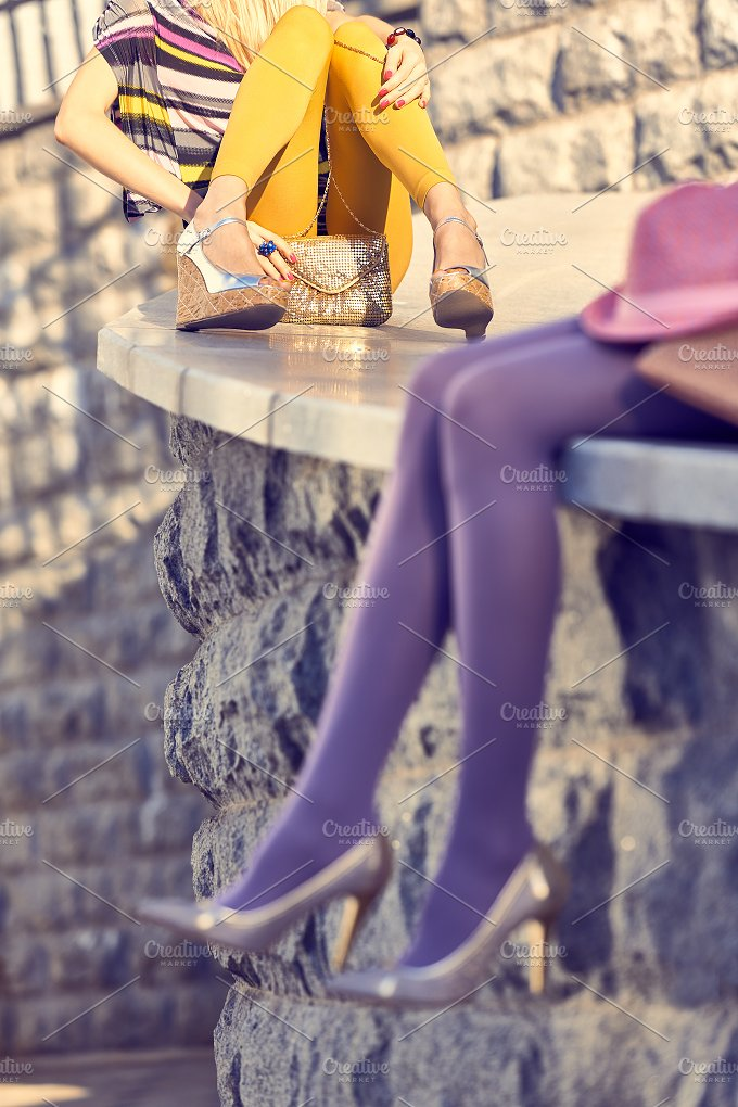 Fashion urban people, womans,outdoor. Lifestyle - Beauty & Fashion