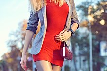 Fashion urban people, woman, outdoor. Lifestyle