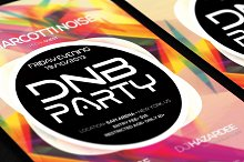 DnB Party Club Colorful Poster/Flyer