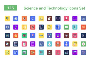 125 Science and Technology Icons Set