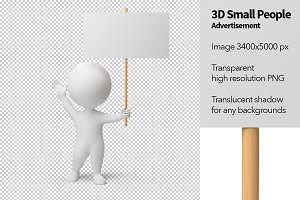 3D Small People - Advertisement