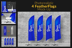 Feather Flags / Bow Flags MockUp