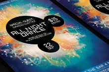 All Night Dance Colorful Party Flyer