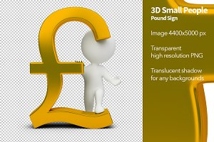 3D Small People - Pound Sign