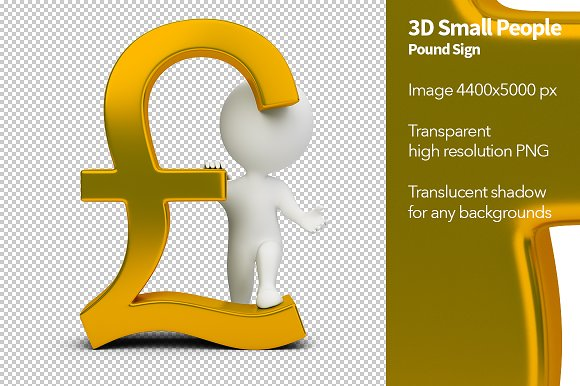 3d Small People Pound Sign Illustrations Creative Market