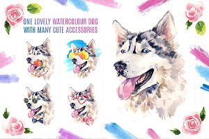 Cute Watercolor Dog