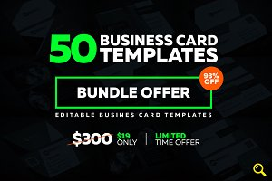 50 Creative Business Card Bundle