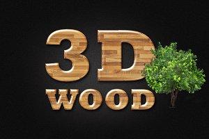 3d wood effect