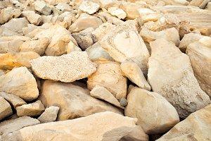 Pastel stones on the beach.
