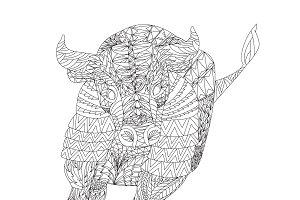 Patterned bull